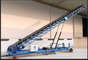 Mobile belt stacker